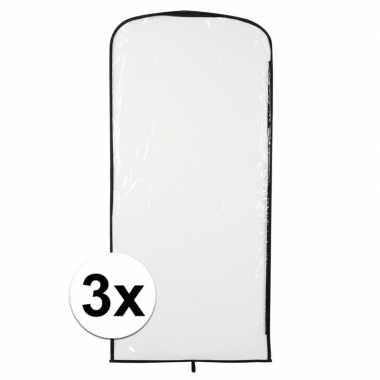 3x kostuum opberghoes transparant 95 bij 42
