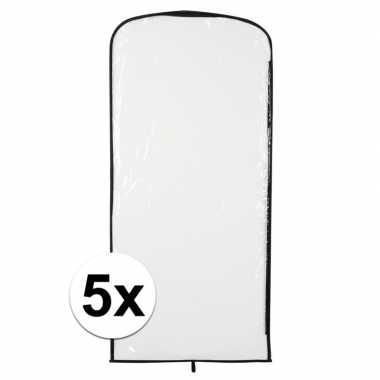 5x kostuum opberghoes transparant 95 bij 42