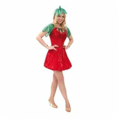 Aardbeien kostuum dames