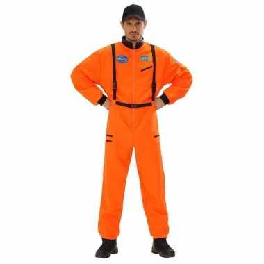 Astronauten kostuum oranje heren