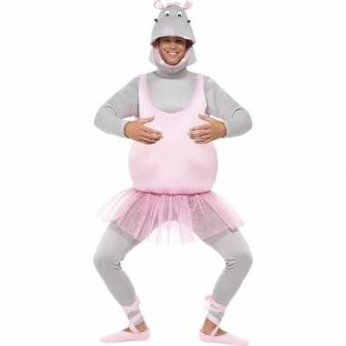 Ballerina nijlpaard kostuum volwassenen