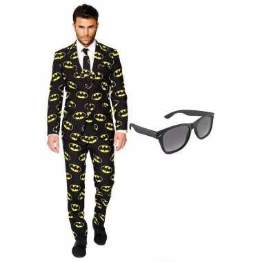 Batman heren kostuum maat 54 (xxl) gratis zonnebril