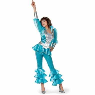 Blauw disco kostuum dames