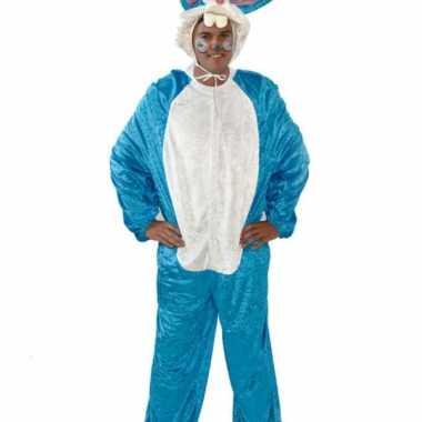 Blauw haas kostuum volwassenen