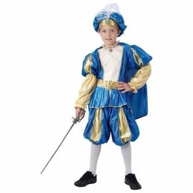 Blauw prinsen kostuum kinderen