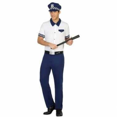 Blauw/wit politie verkleed pak/kostuum heren