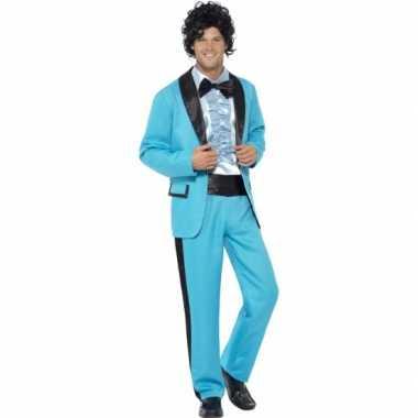 Blauwe disco kostuum heren