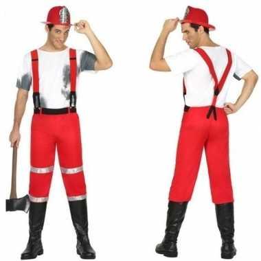 Brandweerman joe kostuum bretels heren