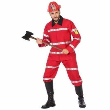 Brandweerman verkleed kostuum heren