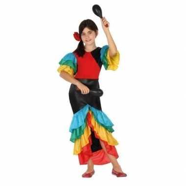 Braziliaanse samba/rumba danseres verkleed kostuumvoor kinderen