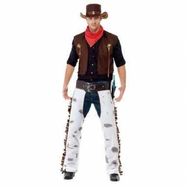 Bruin cowboy kostuum heren