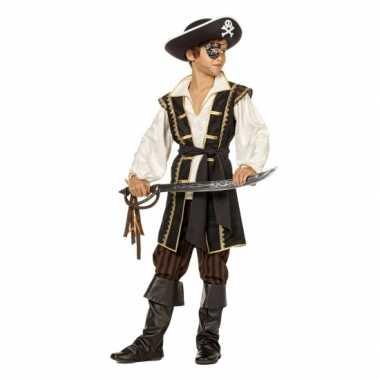 Bruin kostuum pirate kinderen