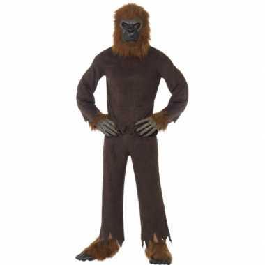 Bruine apen kostuum volwassenen