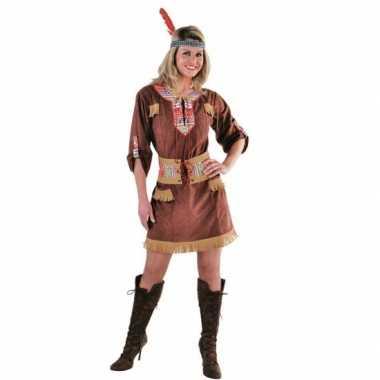 Bruine indianen dames kostuum