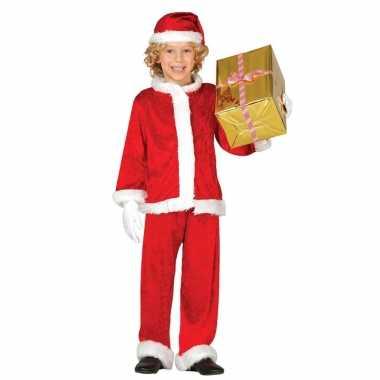 Budget kerstman verkleed kostuum kinderen 3 delig