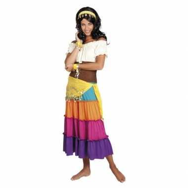 Buikdanseres kostuum geel