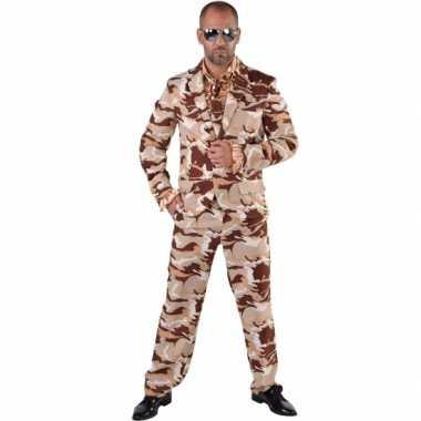 Camouflage kostuum 3 delig heren