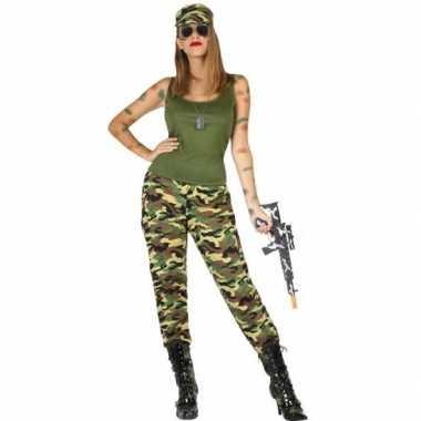Camouflage soldaat verkleed pak/kostuum dames