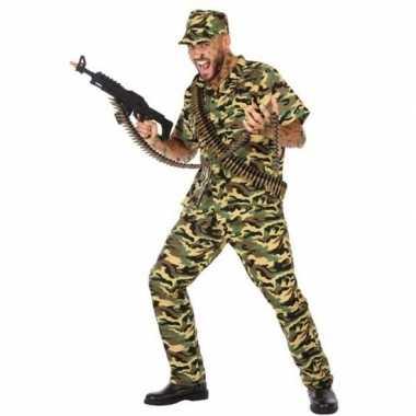 Camouflage soldaat verkleed pak/kostuum heren