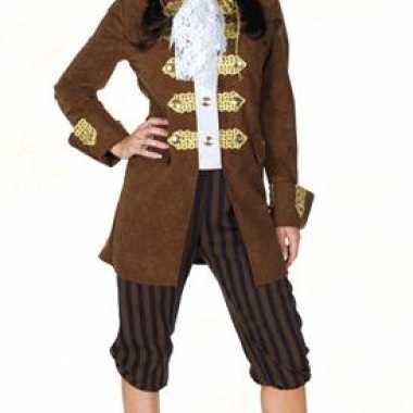 Carnaval piraten kostuum bruin