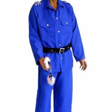 Carnaval Politieagent kostuum man