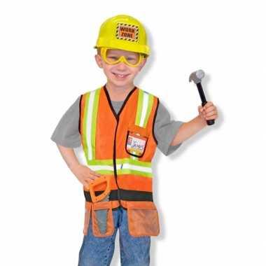 Carnavals kostuum bouwvakker kinderen