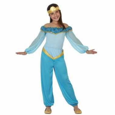 Carnavals kostuum lichtblauwe arabische prinses