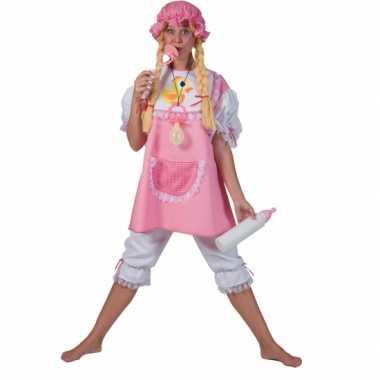 Carnavals kostuum roze baby dames