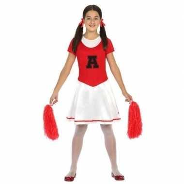 Cheerleader jurk/jurkje verkleed kostuum kinderen