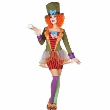 Clown hoge hoed verkleed kostuum dames