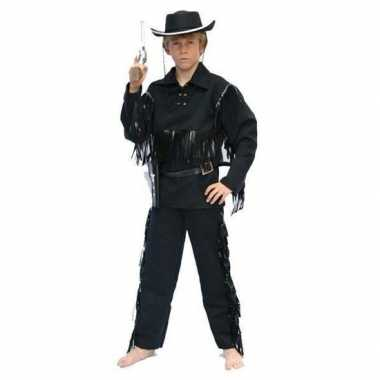 Cowboy kostuum zwart kinderen