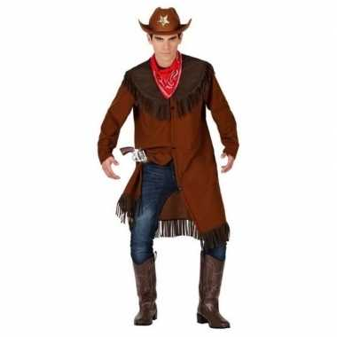 Cowboy/western jas verkleed kostuum heren