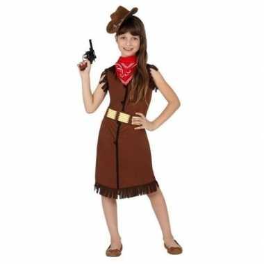 Cowgirl/cowboy kostuum/jurk kinderen