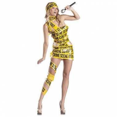 Crime scene afzetlint kostuum