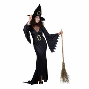 Dames kostuum zwarte heks