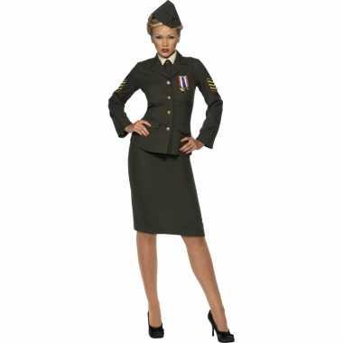 Dameslijke leger officier kostuum