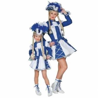 Dansmarieke kostuum blauw meiden