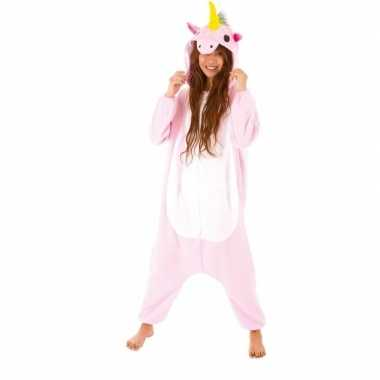Dierenpak eenhoorn pinky onesie verkleed kostuum dames