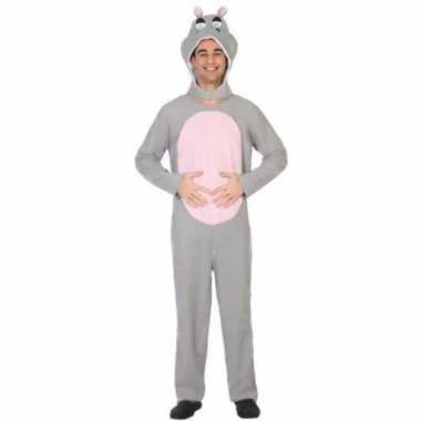 Dierenpak verkleed kostuum nijlpaard volwassenen
