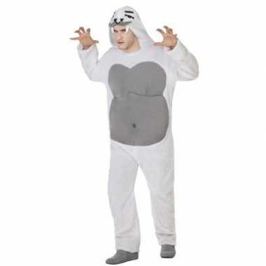 Dierenpak yeti verkleed kostuum volwassenen