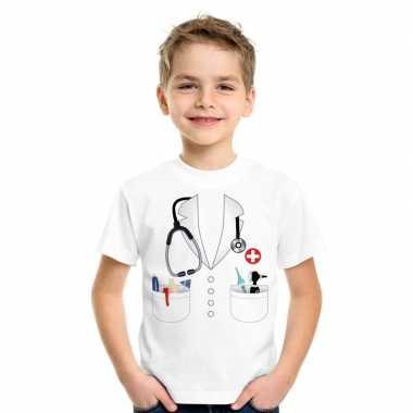 Doktersjas kostuum t shirt wit kinderen