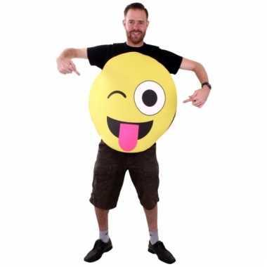 Emoticon kostuum knipoog volwassenen