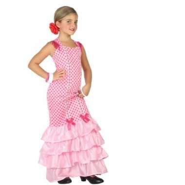 Flamenco danseres kostuum kinderen roze