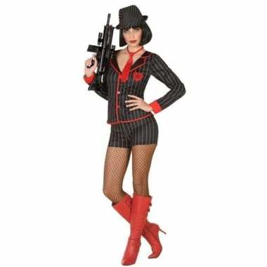 Gangster verkleed kostuum dames