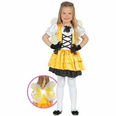 Geel vlinder kostuum kinderen
