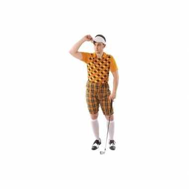 Golf kostuum oranje heren