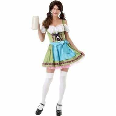 Groen oktoberfest jurkje/dirndl kostuum dames