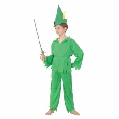 Groene boskinderen kostuum kinderen