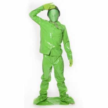 Groene soldaat kostuum kinderen