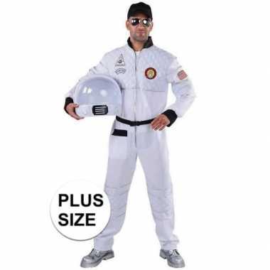 Grote maat astronaut verkleed kostuum heren
